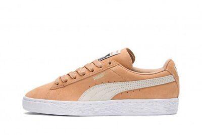 Orange White 355462-75 Womens Puma Suede Classic Sneaker