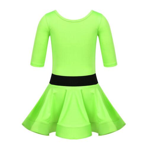 KIDS GIRLS LATIN RUMBA SAMBA SALSA CHA CHA BALLROOM TANGO DANCE DRESS COSTUME Other Kids' Dancewear