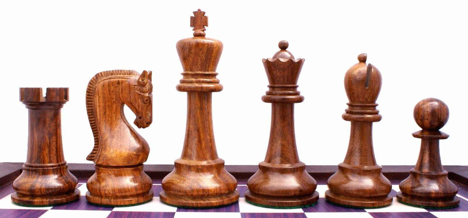 Leningrade Series Premium Staunton 4  Chess Set in Shesham Wood & Box Wood
