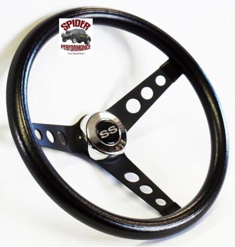 "1969-1977 Malibu Chevelle steering wheel SS 13 1//2/"" CLASSIC BLACK steering wheel"
