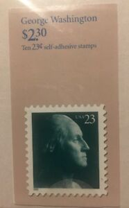 George-Washington-United-States-Postage-Stamps-Book-Of-Ten-23-Stamps