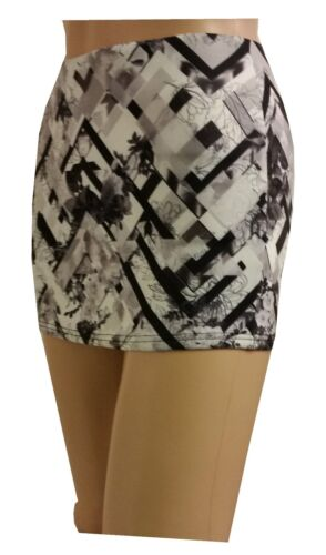 NEW LADIES WOMENS HOT PRINTED  MICRO MINI FITTED SKIRT SIZE 4 TO 20
