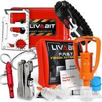 Livabit Survival Kit Emergency Sos Multi Tool Pack + Venom Sting Extractor Pump
