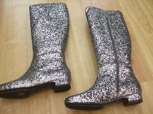 Knee Size High Boots 38 5 Glitter Looking Bnwob Boden Stunning URqwYUH