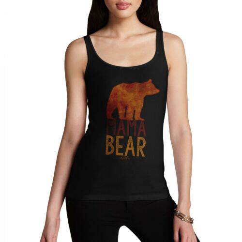 Twisted Envy Mama Bear Silhouette Women/'s Funny Tank Top