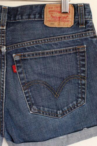 con Pantaloncini Medium Wash 31 alta Blue vita denim a risvolto Levi's vintage in daaSZq