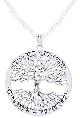 0.925 Sterling Silver Mickie Mueller Tree Pentagram Pendant Necklace