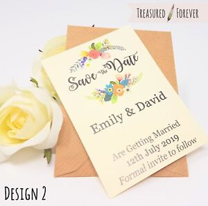 Personalised-Wedding-Save-the-Date-Cards-with-Envelopes-Magnetic-Floral