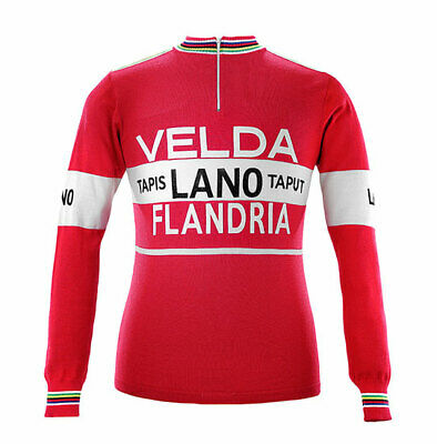 Retro Team 1978 Velda Lano Vintage Cycling Jersey Long Sleeve