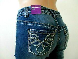LANE-BRYANT-Jeans-PLUS-SIZE-16-Slim-Boot-Rhinestone-Embellished-NWT