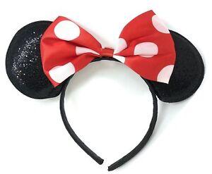 ORECCHIE Cerchietto Rosso a Pois Gonna Costume Ragazze Minnie Mouse TUTU FIOCCO