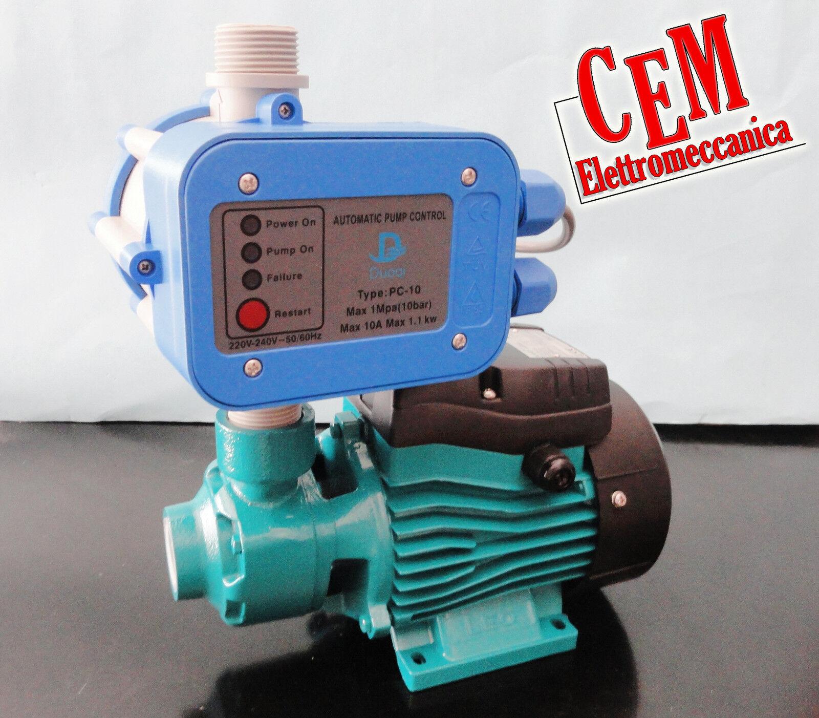 Bomba Bomba Eléctrica Autoclave Leo APM37 0,5hp + Press Control 1,5 Barra