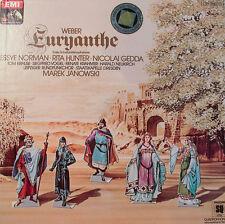 "WEBER EURYANTHE NORMAN-HUNTER-GEDDA-JANOWSKI -EMI QUADROPHONIE-12"" LP  [k373]"