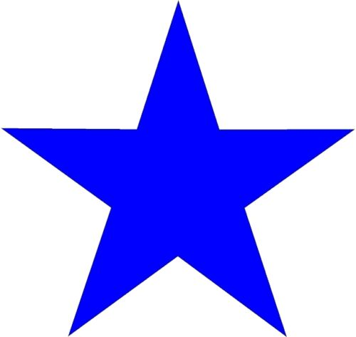 Star high quality outdoor vinyl cut-out decal sticker with transfer tape.
