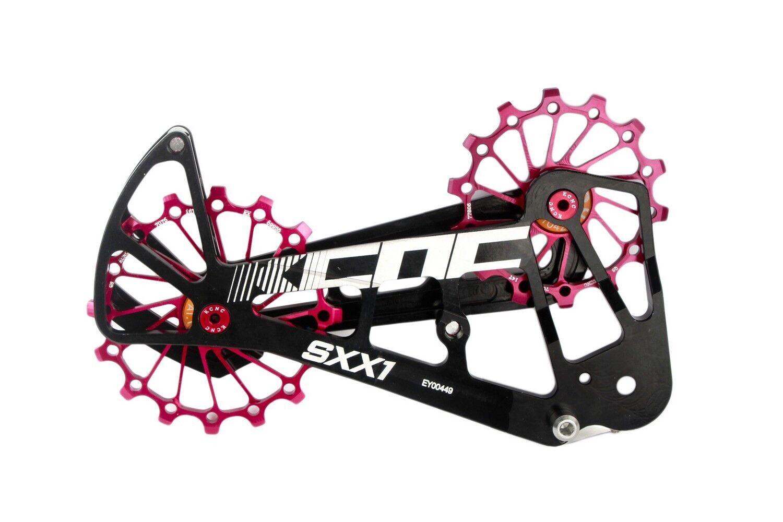 KCNC SXX1 montaña bicicleta de ciclismo de gran tamaño de la Polea Jaula para Sram Eagle XX1 Rojo