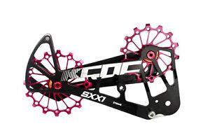 KCNC-SXX1-Chape-Galets-Oversized-Velo-Chemin-VTT-OPWS-pour-Sram-Eagle-XX1-Rouge
