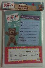 20 Little CHARLEY BEAR Children's Birthday Party Invitations Invites Envelopes