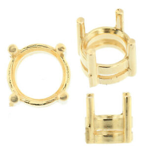 14K-Yellow-Gold-Round-Wire-Basket-Setting-Mounting-4-Prong-0-03ct-2-00ct-USA