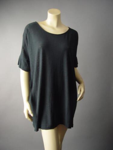 Black Basic Minimalist Cotton Modal Loose Oversized Fit Tee Top 194 mv Shirt M L
