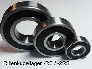 NEU // 3 Kugellager 6006 RSR