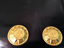 AUTHENTIC KARL LAGERFELD VINTAGE CLIP ON/EARRINGS GOLD PLATED W/ KL LOGO