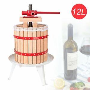 12-L-Presse-Obstpresse-Saft-Maischepresse-Fruchtpresse-Weinpresse-mit-Presstuch