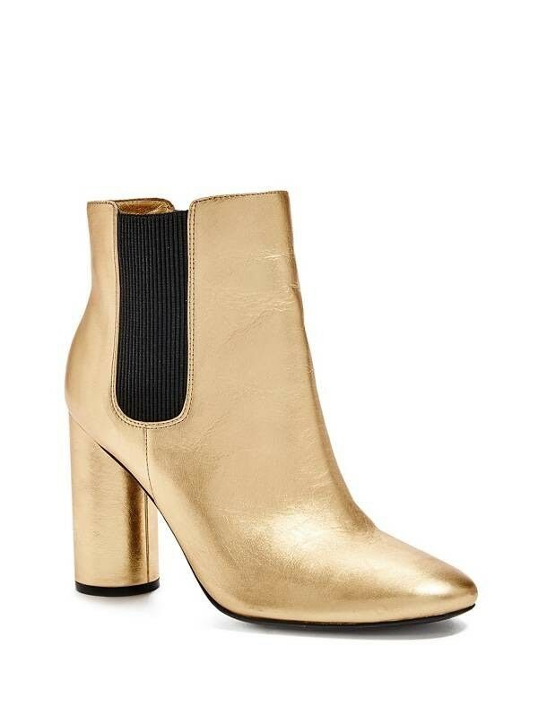 198 Guess By Marciano Women's Eilana Booties In gold Leather Size 9.5