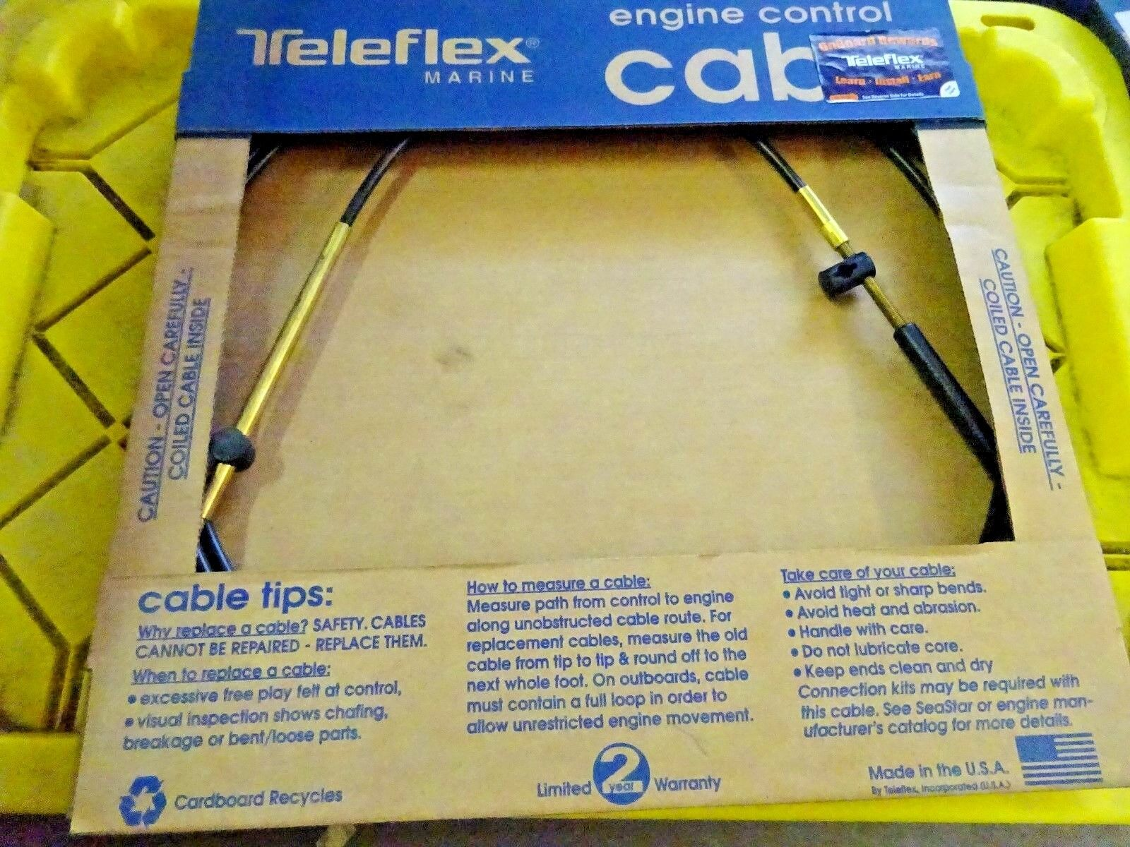 Teleflex 179 Mercury Control Cable 11/' CC17911