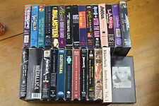Lot of 28 Rock Concert VHS Tapes Tour Music Videos Metallica Dokken Crue Tesla