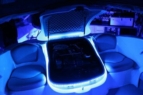 RV Awning LED Light Strip Boat Camper Deck RGB Multi Colored LEDs 16 Feet