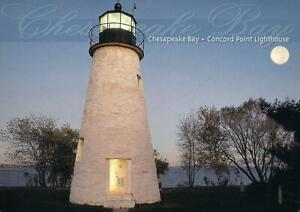 CONCORD-POINT-LIGHTHOUSE-on-CHESAPEAKE-BAY-POSTCARD-NEW