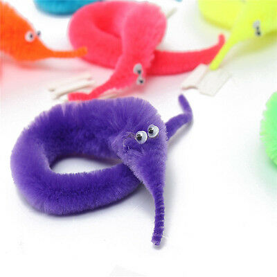 2Pc Magic Trick Twisty Fuzzy Worm Wiggle Moving Sea Horse Funny Life For Kid New