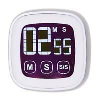 Large Touch Screen LCD Digital Kitchen Timer Count Down Up Clock Loud Alarm Hot