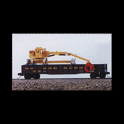 "N SCALE: ""M.O.W. GONDOLA CRANE"" KIT #2081 by RAILWAY EXPRESS MINIATURES!"