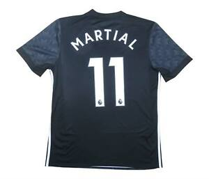 Manchester United 2017-18 Authentic AWAY SHIRT MARZIALE #11 (eccellente) M