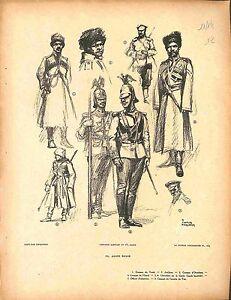 """Armée impériale russe Imperial Russian Army Cosaque du Terek Fouqueray 1914 WWI - France - Commentaires du vendeur : """"OCCASION"""" - France"""