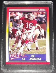 Score-1990-JOE-MONTANA-ALL-PRO-NFL-Football-Card-582