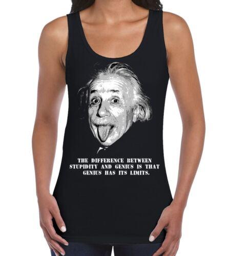 Albert Einstein Genius Quote Women/'s Vest Tank Top Science T-Shirt