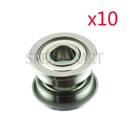 10 x F698zz Mini Metal Double Shielded  Flanged  Ball Bearings 8mm*19mm*6mm