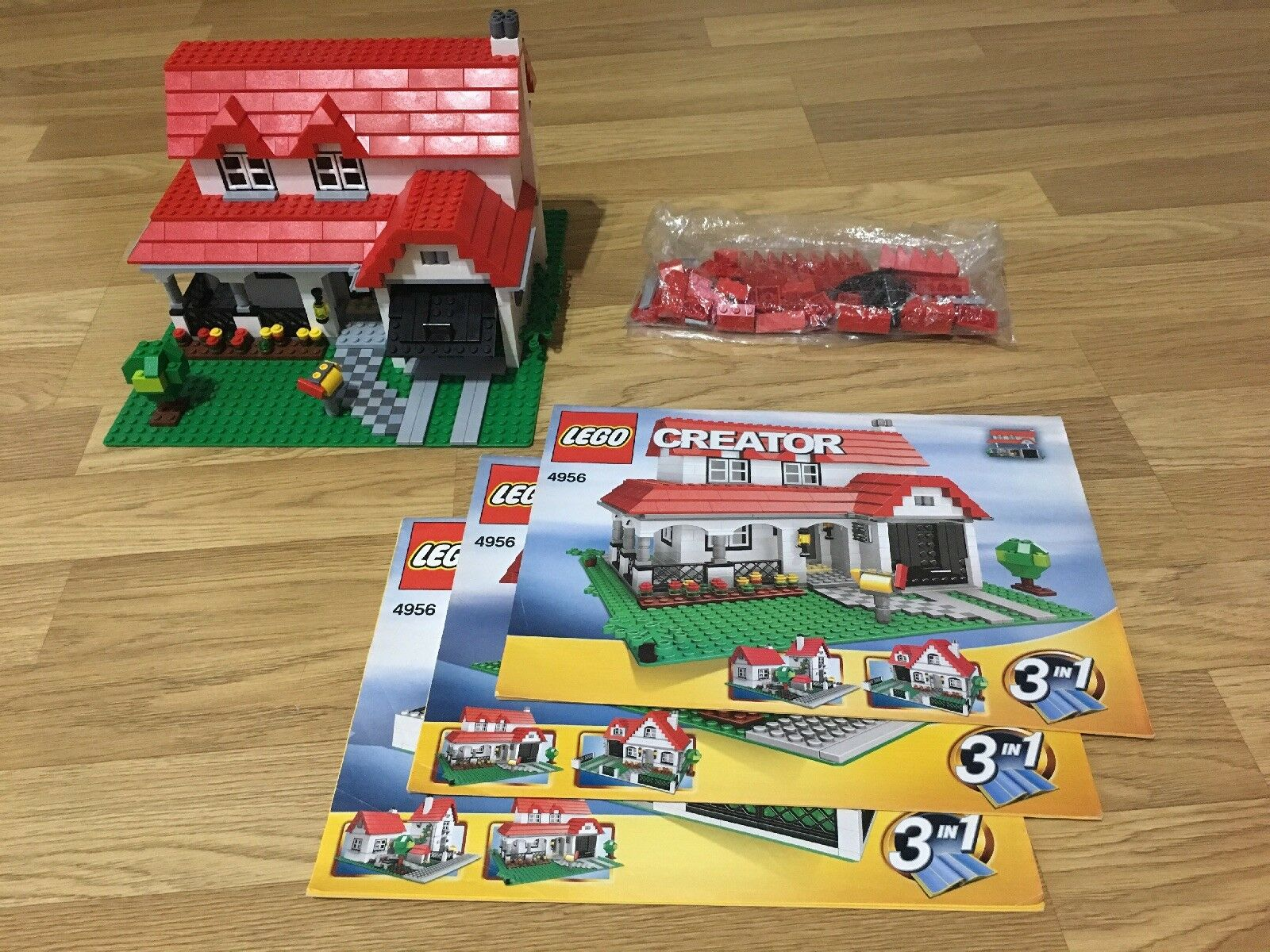Lego Creator House Set No 4956 3in1 Complete Instructions With