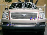 Billet Grills Insert Fit 06 07 Ford Explorer Front Upper Aluminum Grill Car