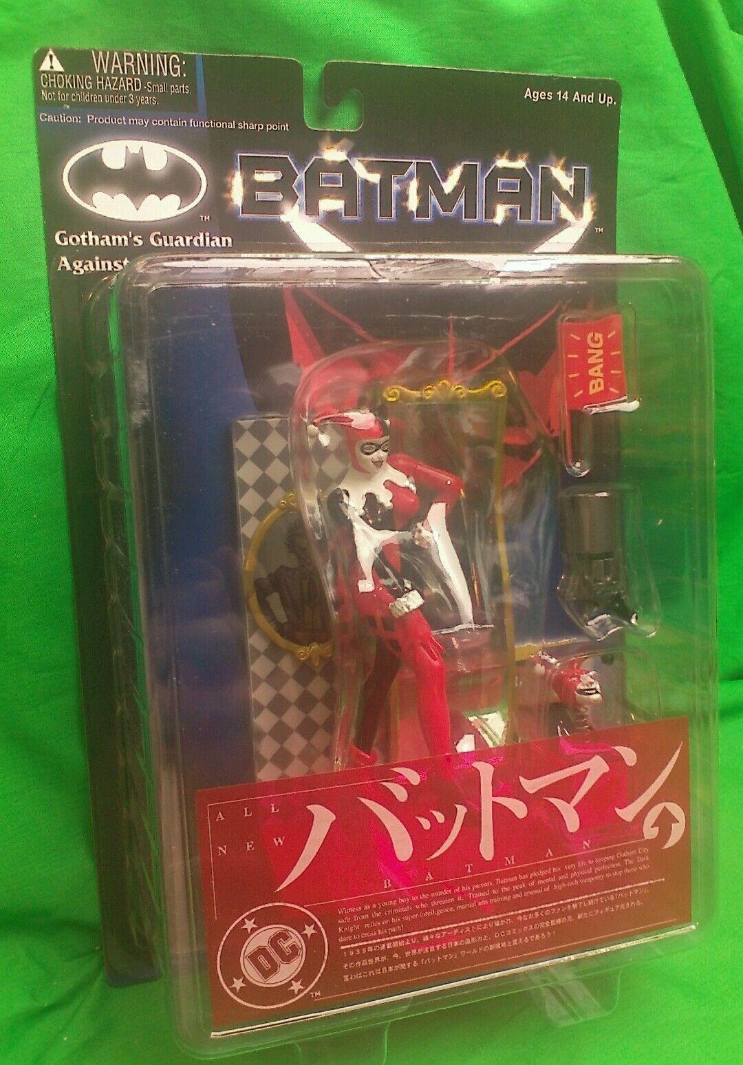 Harley Quinn Batman Gotham Guardian contra la delincuencia Wave 1 figura menta en tarjeta