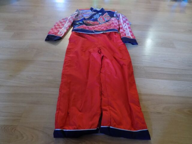 Disney Store Cars Lightning McQueen Pit Crew Jumpsuit Dress Up Costume 9-10Years