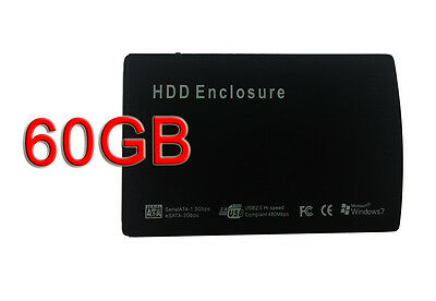 """New USB 2.0 2.5"""" 60GB silm Portable External Mobile Hard Disk Drive"""