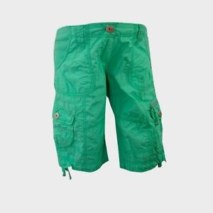 Maternity-Green-Cotton-Cargo-Holiday-Knee-Military-Summer-Shorts-Trousers-12