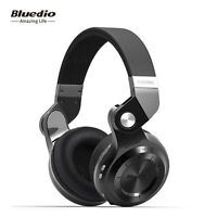 Bluedio T2s Over-Ear 3.5mm Wireless Bluetooth Professional Headphones (Black)