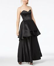 Fame and Partners Strapless Peplum Gown Size 0 3b 306