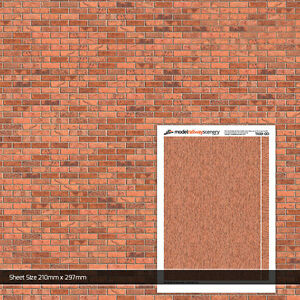 Details about 5 x SHEETS LIGHT RED BRICK PAPER 00 GAUGE 1:76 MODEL RAILWAY  BUILDINGS TX001
