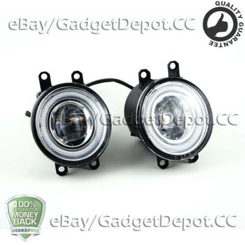 For Toyota Scion Lexus Pair of Hi-Power 10W LED Halo Projector Fog Lights Lamps
