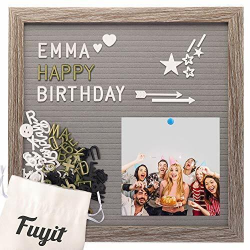 Fuyit Felt Letter Board 12 x 12 inch Soft and Flexible EVA Memo Board for Photo